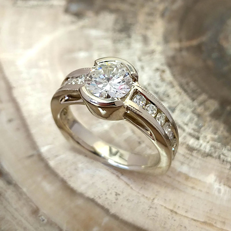 Trios diamond ring custom design ethically made